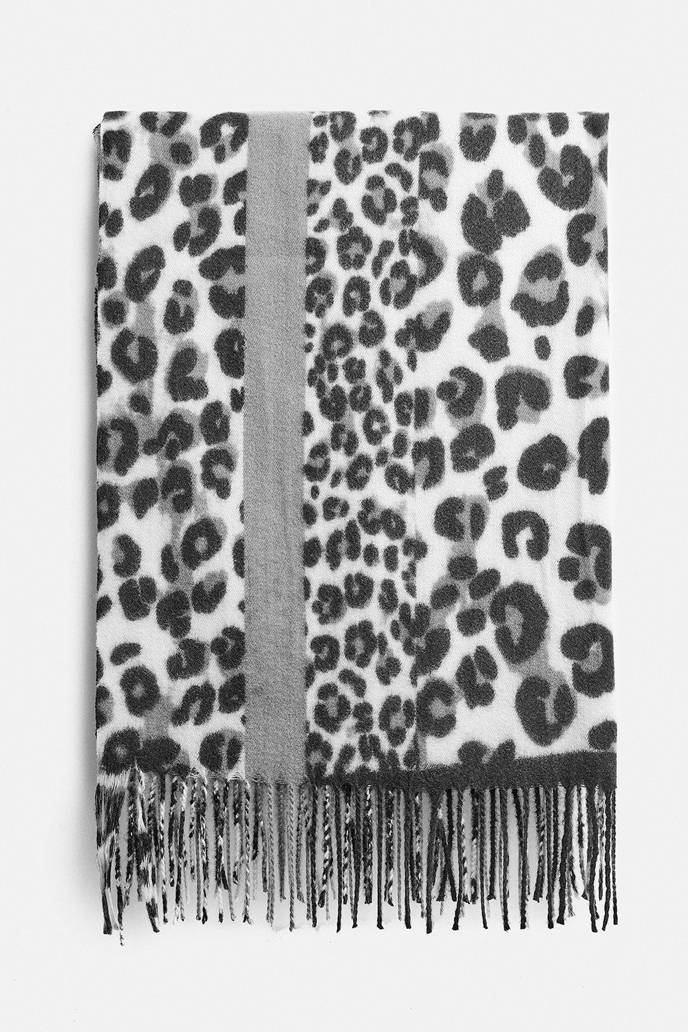 Coast Blocked Leopard Scarf