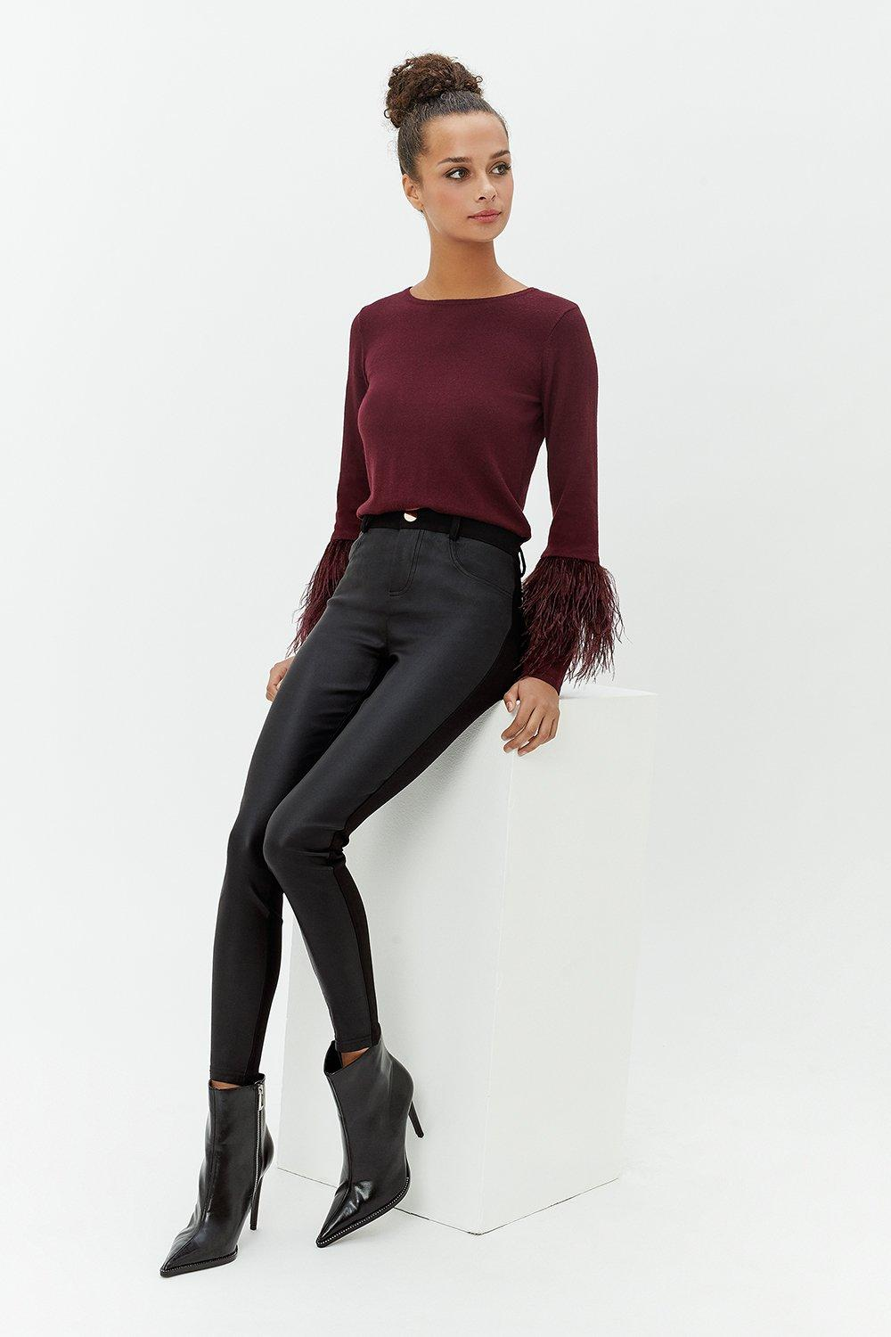 Coast Coated Front Ponte Back Skinny Trousers