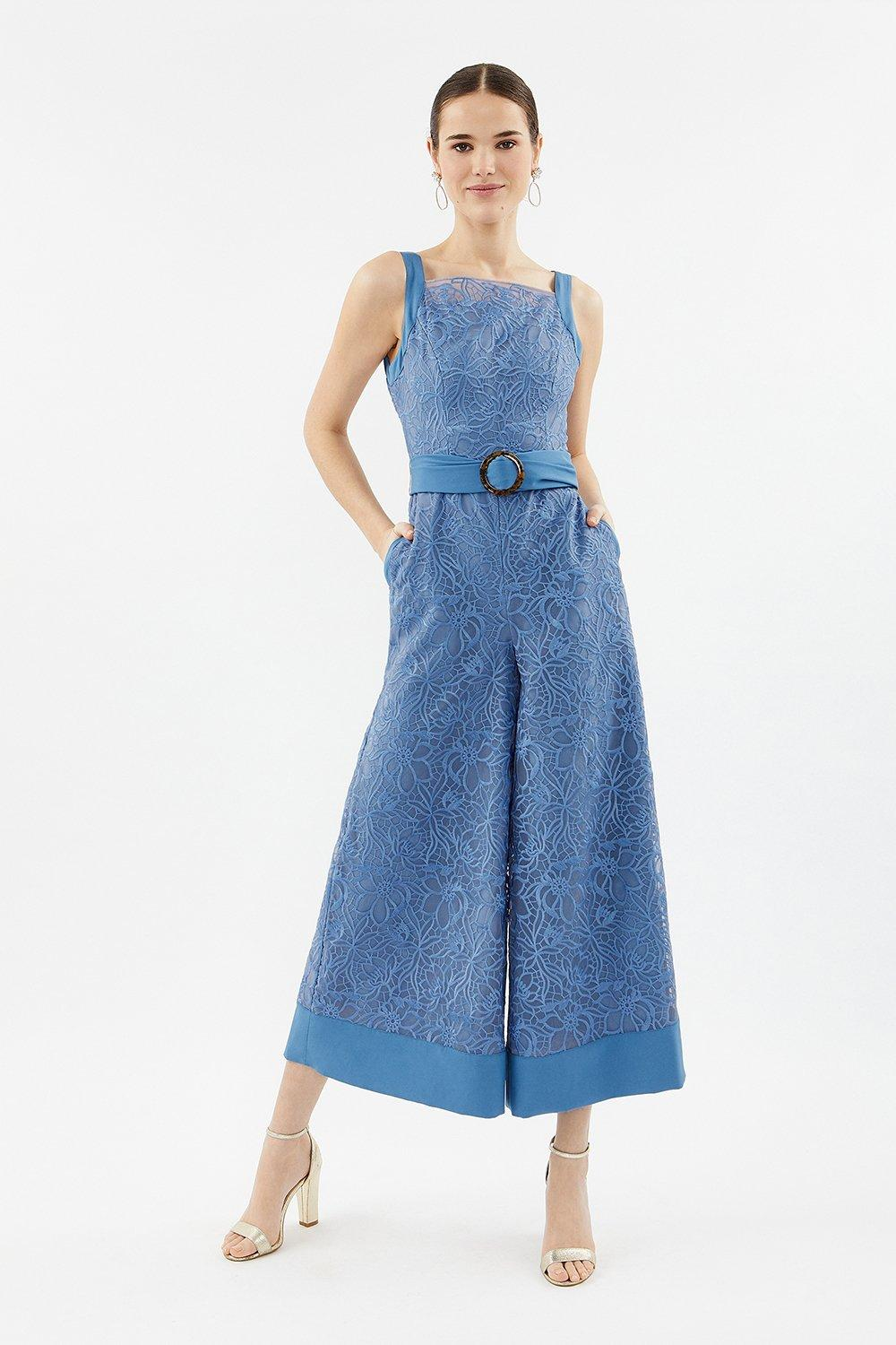 Coast Embroidered Organza Culotte Leg Jumpsuit