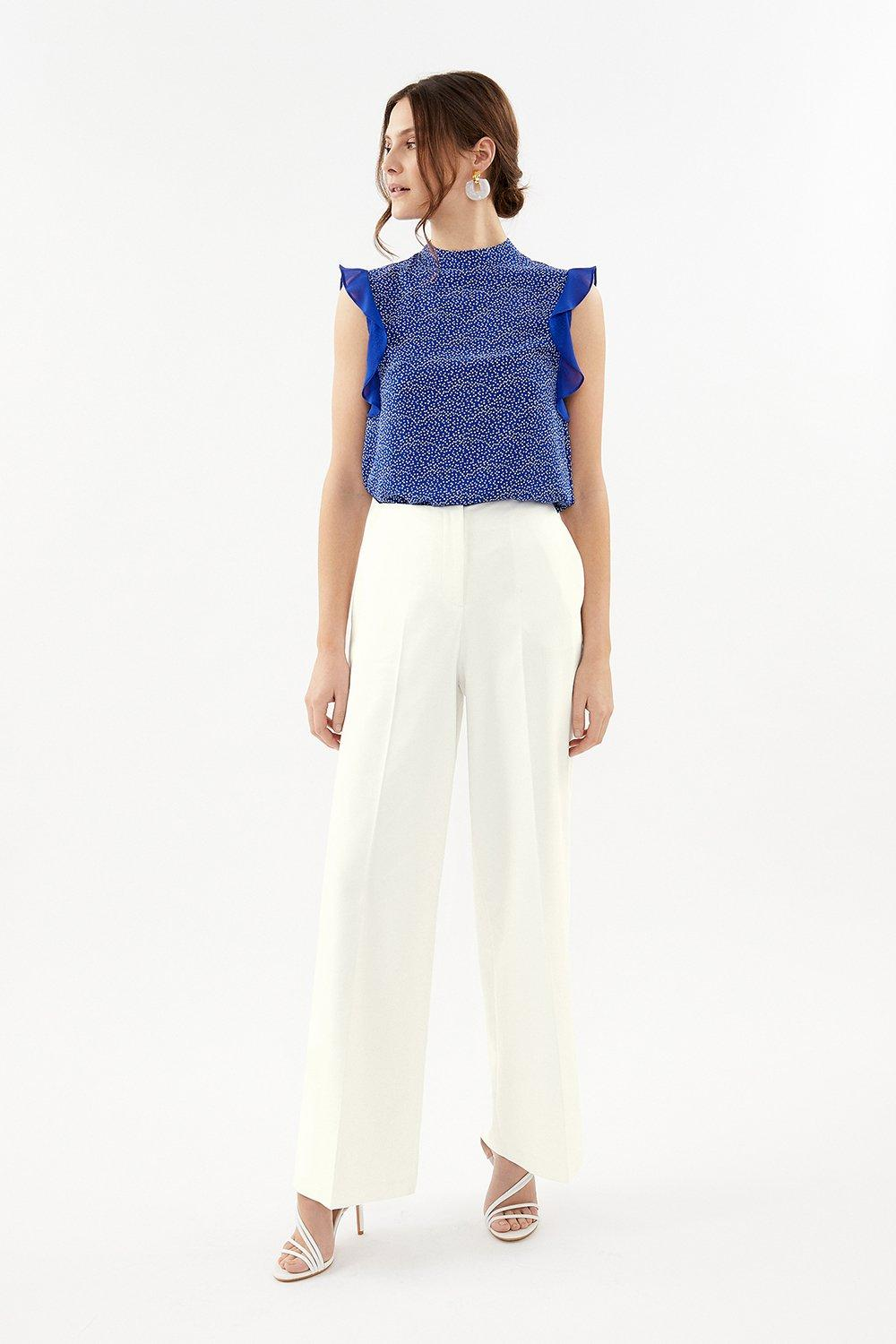Coast Essential Cotton Sateen Wide Leg Trousers