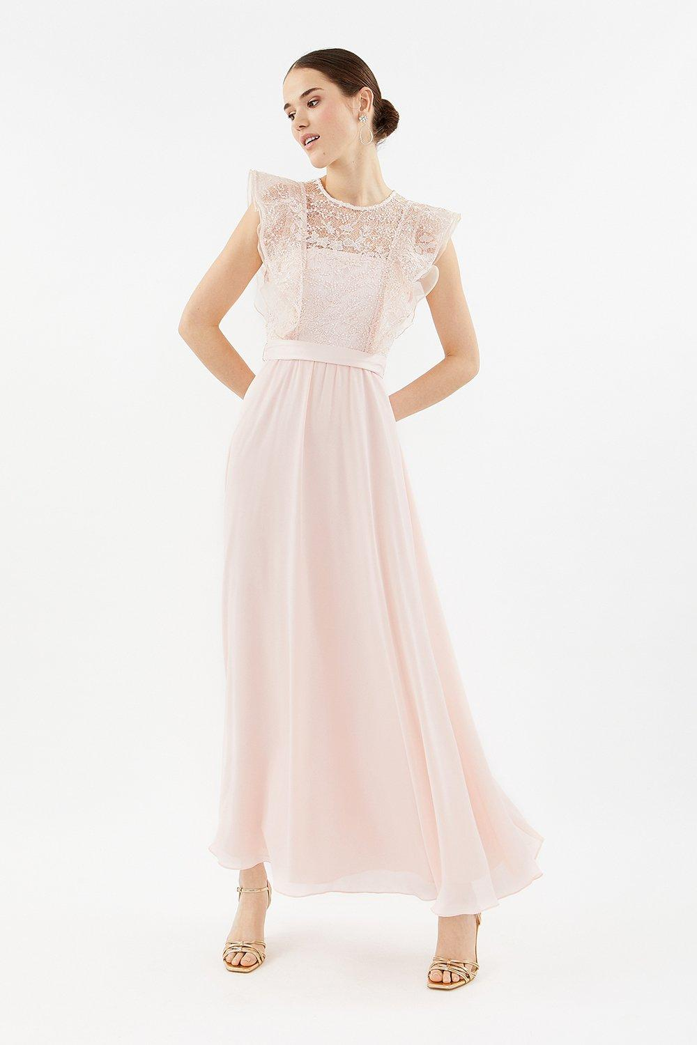 Coast Frilled Sleeve Lace Bodice Dress