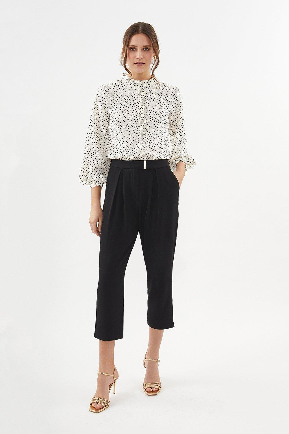 Coast Gold Bar Belted Trouser
