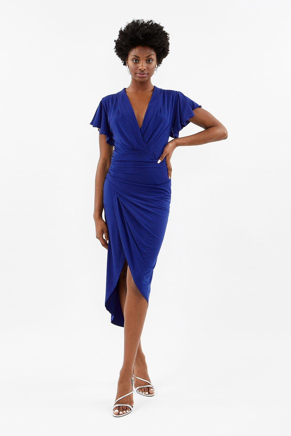 Coast Jersey Ruched Midi Dress