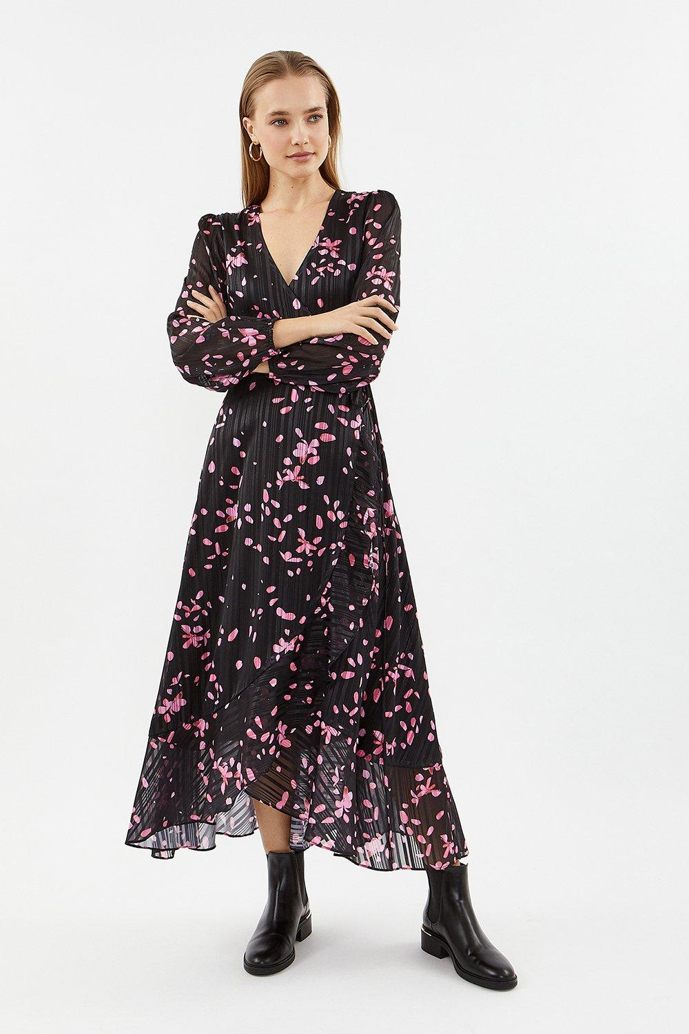 Coast Printed Wrap Dress